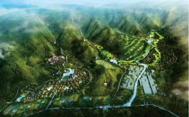 △章安九子山风景旅游度假区效果图