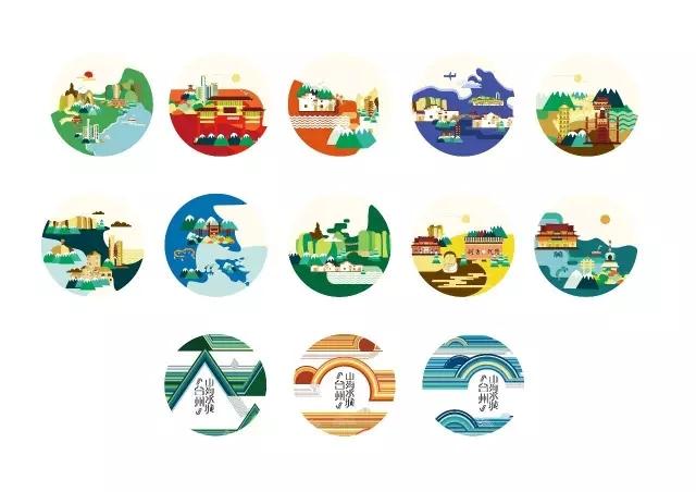 而印有旅游十景图的丝巾,旗袍,月饼,明信片,笔记本等周边产品惊艳亮相
